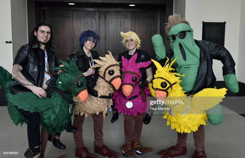 cosplayers at the anime