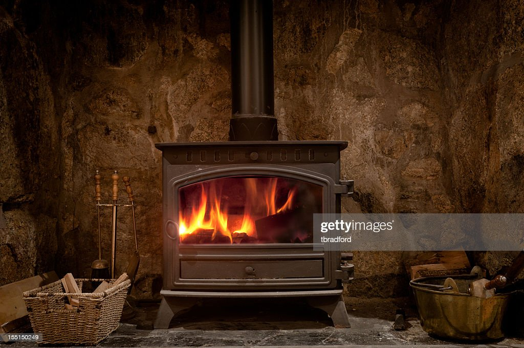 Wood Burning Stove Stock Photos And Pictures Getty Images