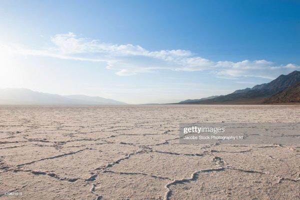 cracks in dry desert landscape