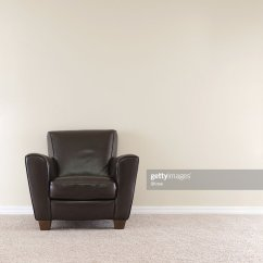 Dark Brown Leather Chair Best Gaming For Xbox Stock Photo Getty Images