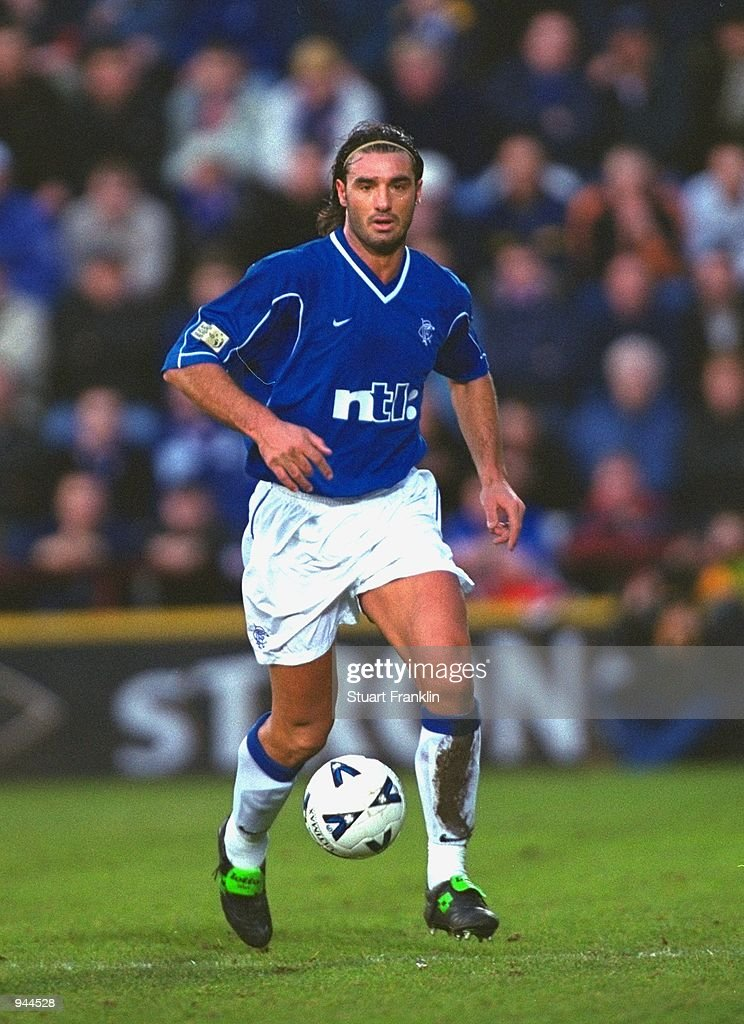 Lorenzo Amoruso Of Glasgow Rangers In Action During The