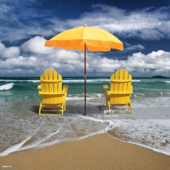 Beach Chairs And Umbrellas Pictures Barber Chair Philippines Deckchair Umbrella On Coast Stock Photo Getty