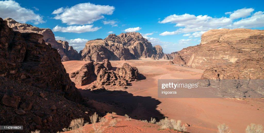 desert landscape wadi rum