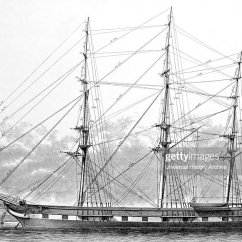 Standing Rigging Diagram Dayton Heater Wiring Of A Hull Spars And Ship Dated 19th News Photo Getty Images