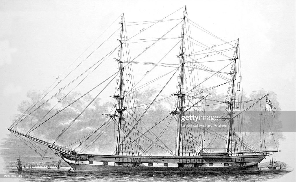 standing rigging diagram wiring for chevy truck and trailer of a hull spars ship dated 19th news photo