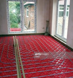 domestic underfloor heating construction of hot water pipes stock photo [ 768 x 1024 Pixel ]