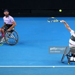 Wheelchair Quad Round Swivel Chair For Sale Dylan Alcott Of Australia Serves In His Doubles 2019 Australian Open Day 11 News Photo