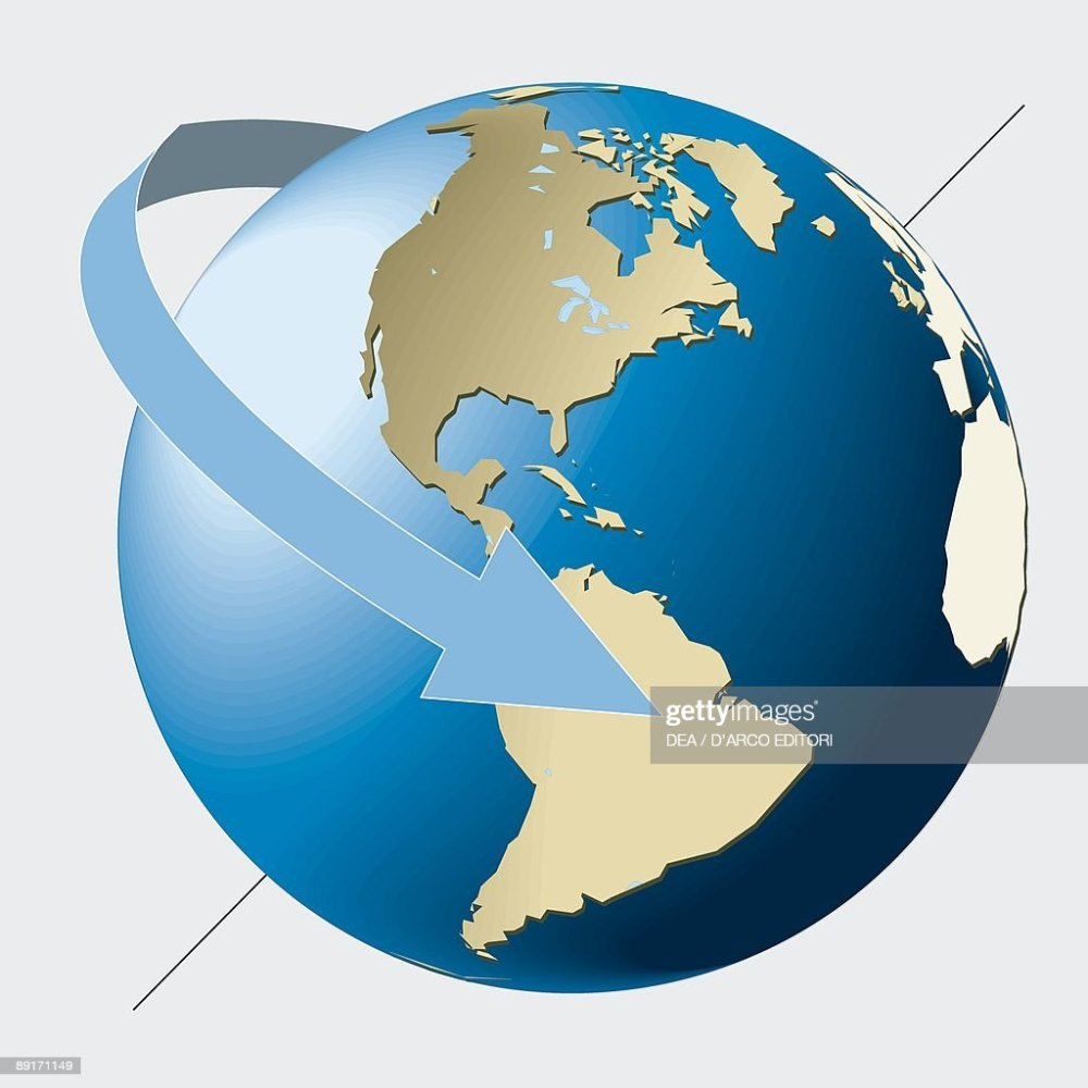 medium resolution of eastward rotation of earth on its axis astronomy diagram news photo