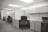Empty Cubicle Stock Photo | Getty Images