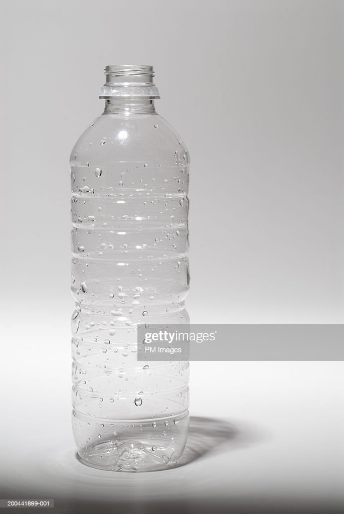 empty plastic water bottle