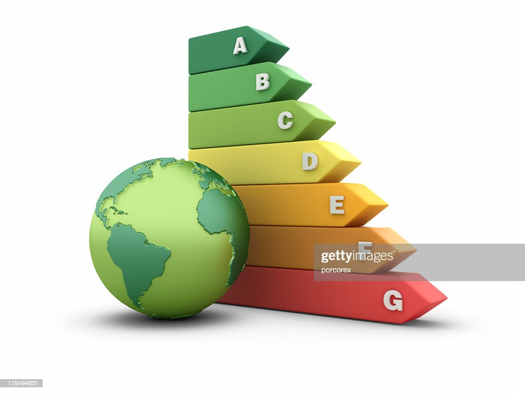 hight resolution of energy efficiency diagram with globe world stock photo