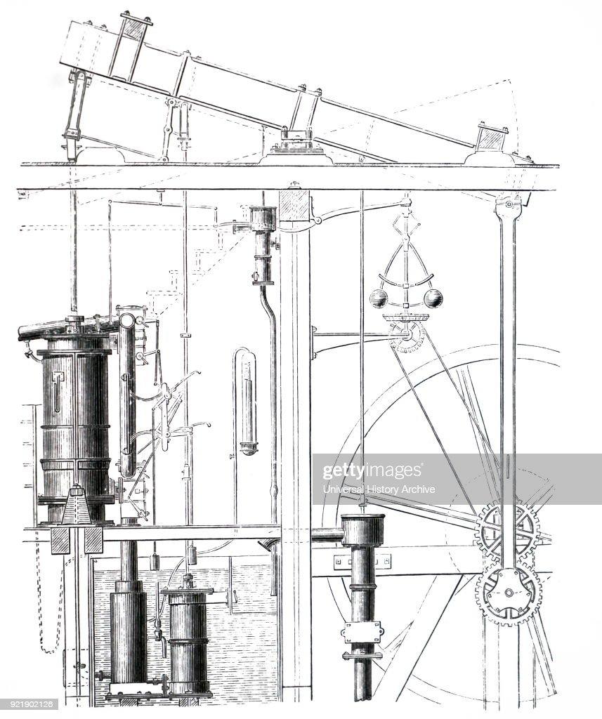 engraving depicting james watt s steam engine james watt a scottish displaying 15 gallery images for simple steam engine diagram [ 857 x 1024 Pixel ]