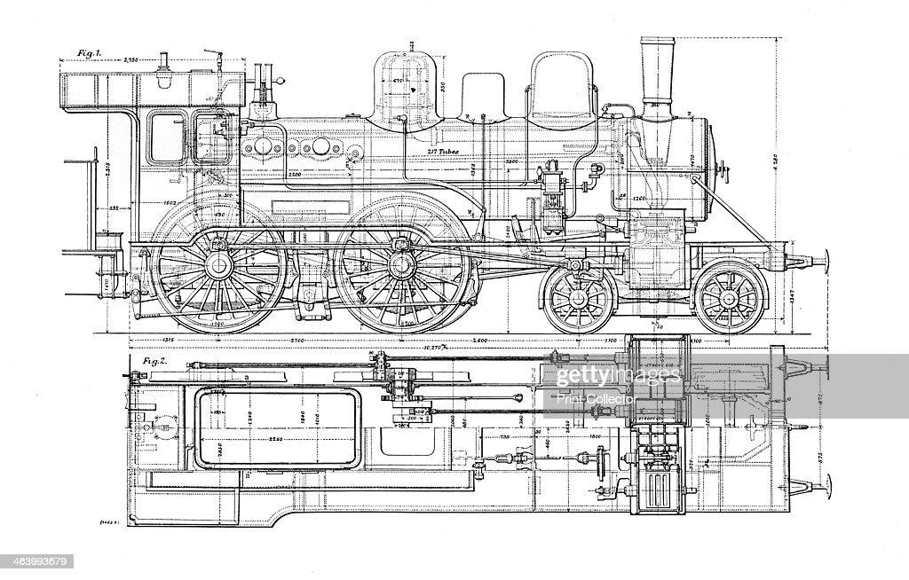 'Example of Mechanical Drawing', 1901. Diagram of a steam