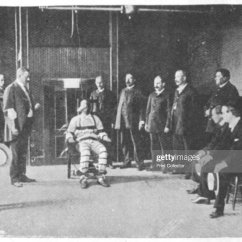 Death By Electric Chair Video Baby Eating Stock Photos And Pictures Execution United States 1898 The Warden Holds A Handkerchief In His Left Hand
