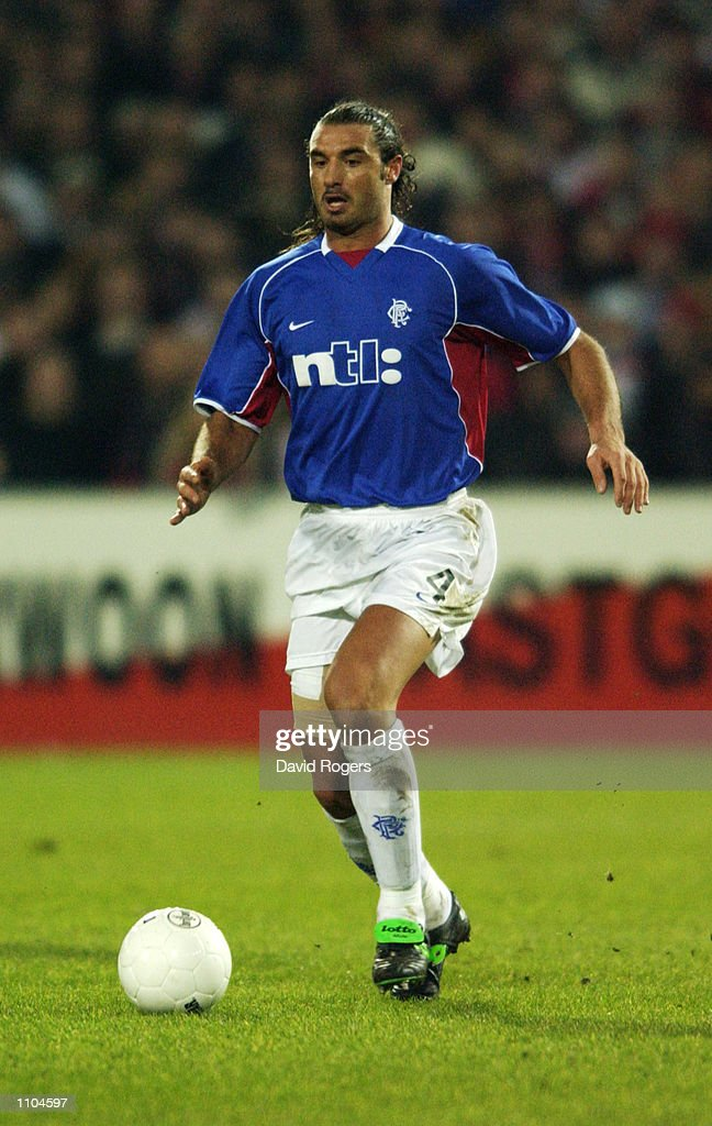 Lorenzo Amoruso Of Rangers Runs With The Ball During The