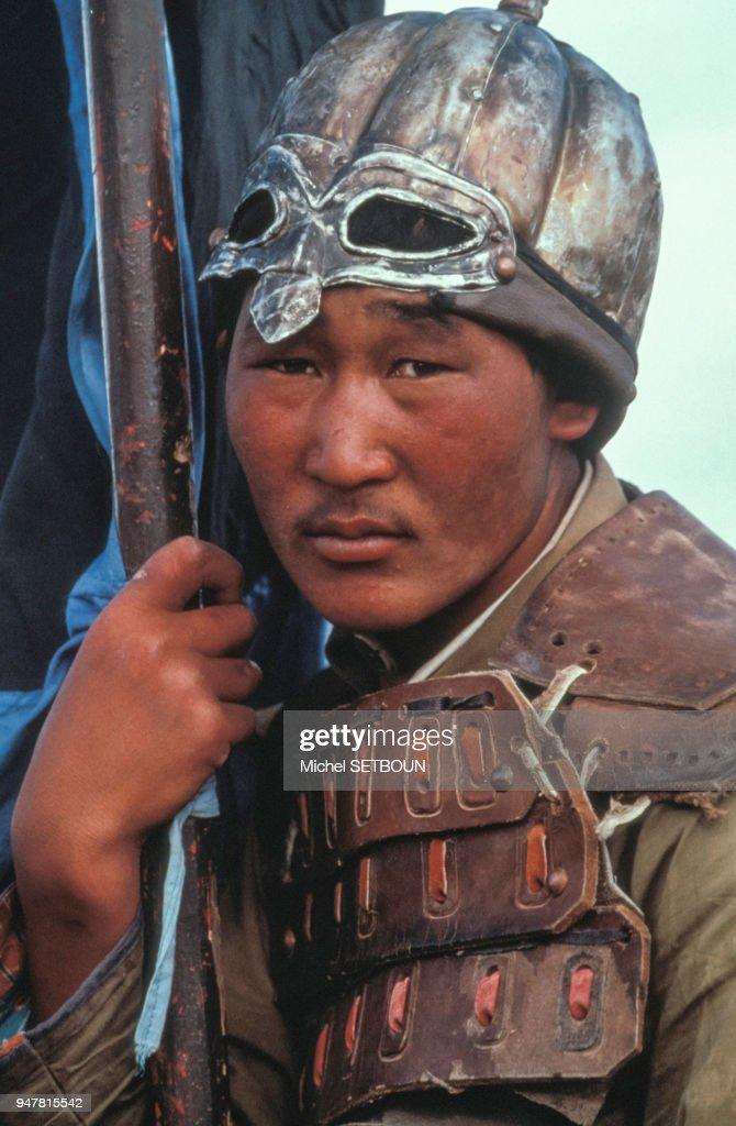 Gengis Khan à La Conquête Du Monde : gengis, conquête, monde, Figurant, Tournage, Nippo-mongol, ?Gengis, La..., Photo, Getty, Images