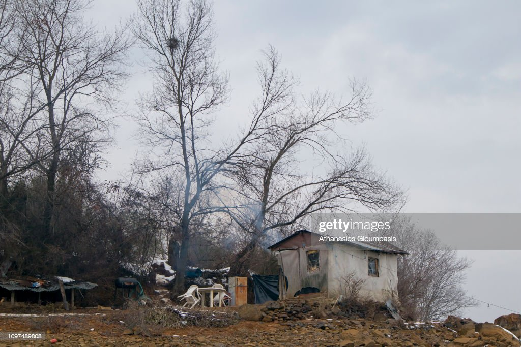 A Fisherman S House On January 20 2019 In Lake Kerkini
