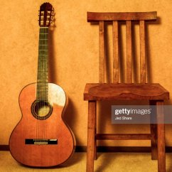 Classical Guitar Chair Wheelchair Motor Flamenco And A To Sit Play Stock Photo