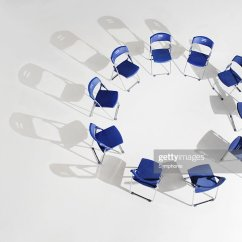 Folding Circle Chairs Stairway Chair Lifts Placed In Elevated View Stock Photo Getty Images