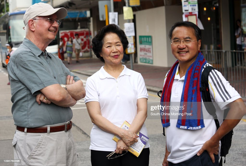 Former Chief Secretary Anson Chan Fang On-sang and Lee Wing-tat at... News Photo - Getty Images