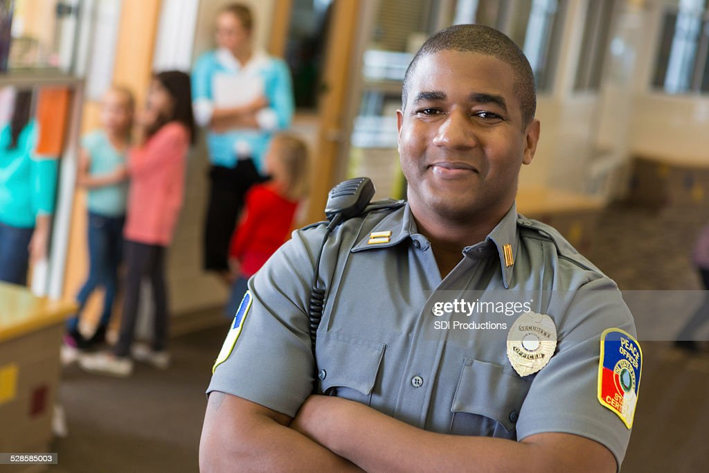 Friendly School Security Guard Working On Elementary School Campus Stock Photo  Getty Images