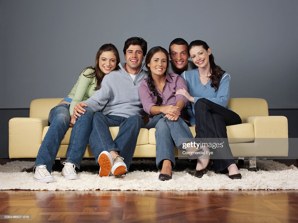 sofa from friends costco sectional with storage ottoman on portrait stock photo getty images