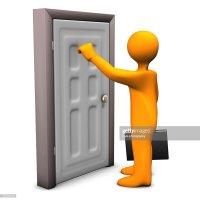 Frontdoor Knocking Stock Photo | Thinkstock