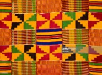 Ghana Traditional Kente Cloth Stock Photo