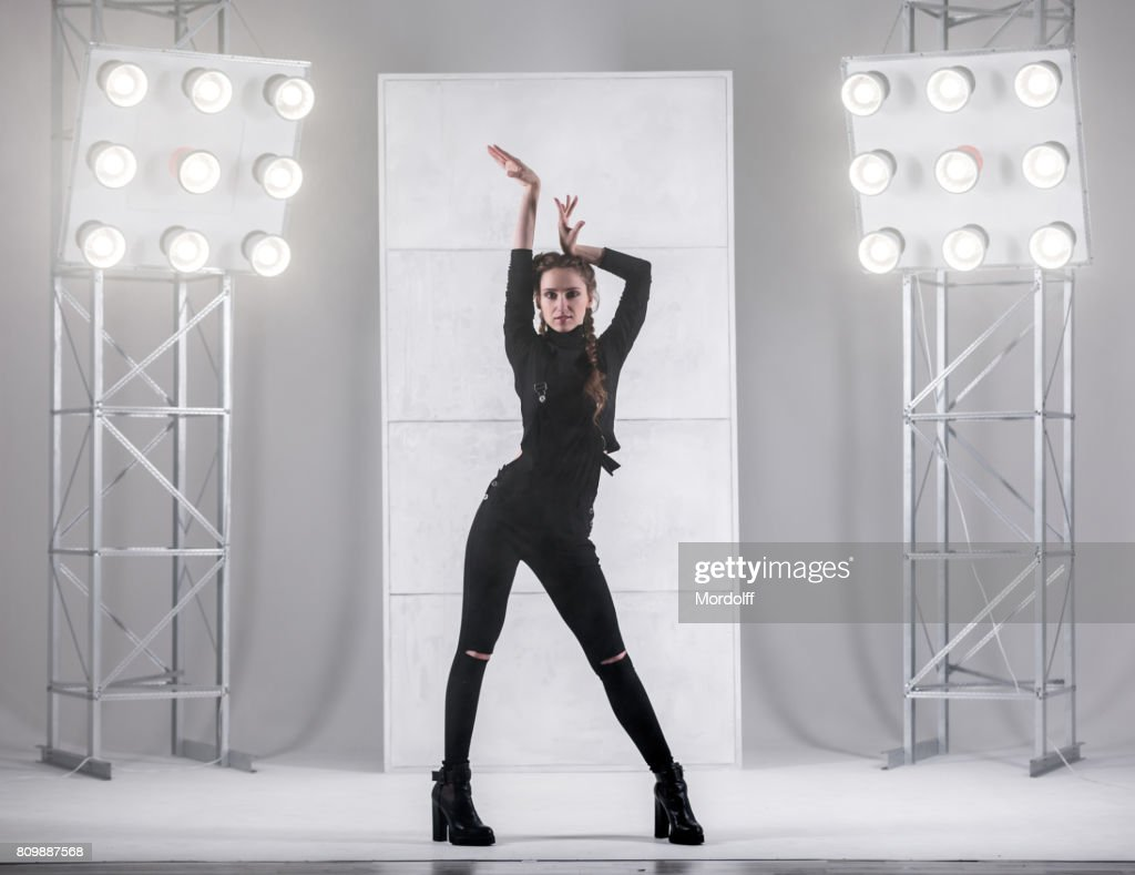 Girl Dancing In Waacking Style High-Res Stock Photo - Getty Images