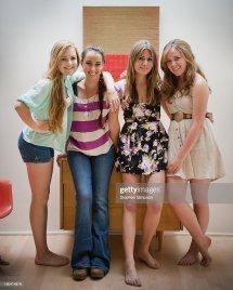 Girls Friends Seniors In High School Stock