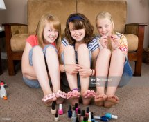 Girls Nails Stock Getty
