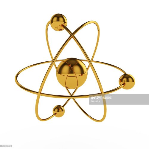 small resolution of golden atom model stock photo