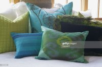 Green And Blue Throw Pillows Stock Photo | Getty Images