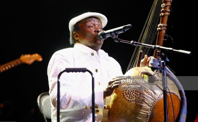 Guinean Singer Mory Kante Performs On Stage After Being