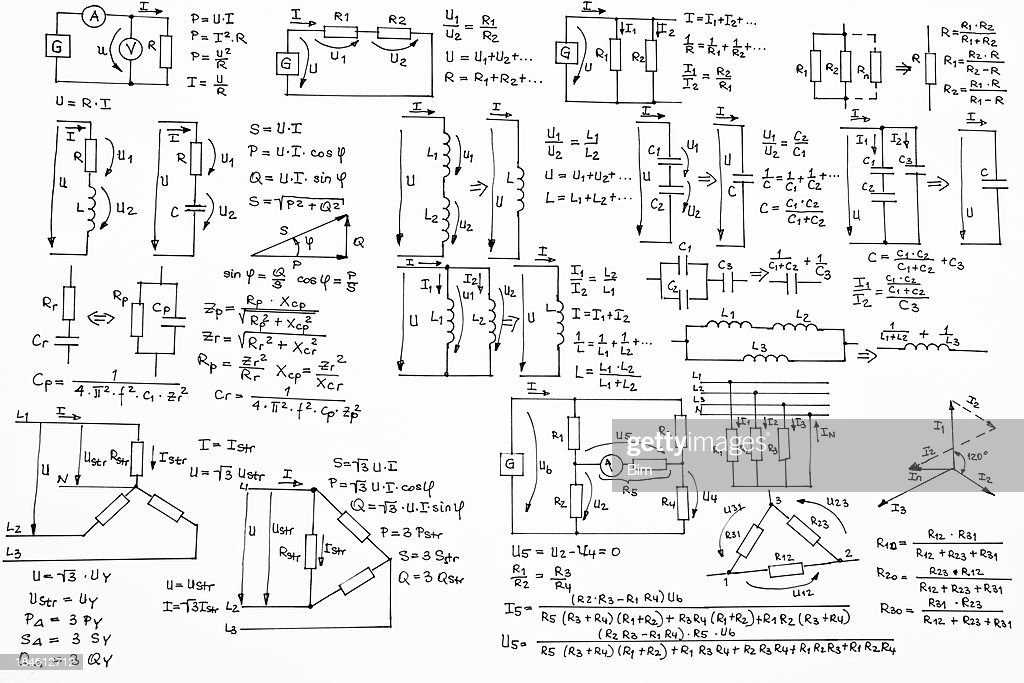 Hand Written Formulas Of Electrotechnics And Electronics