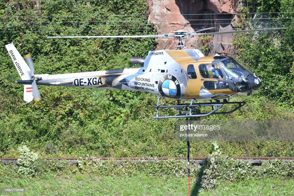 a helicopter carrying a