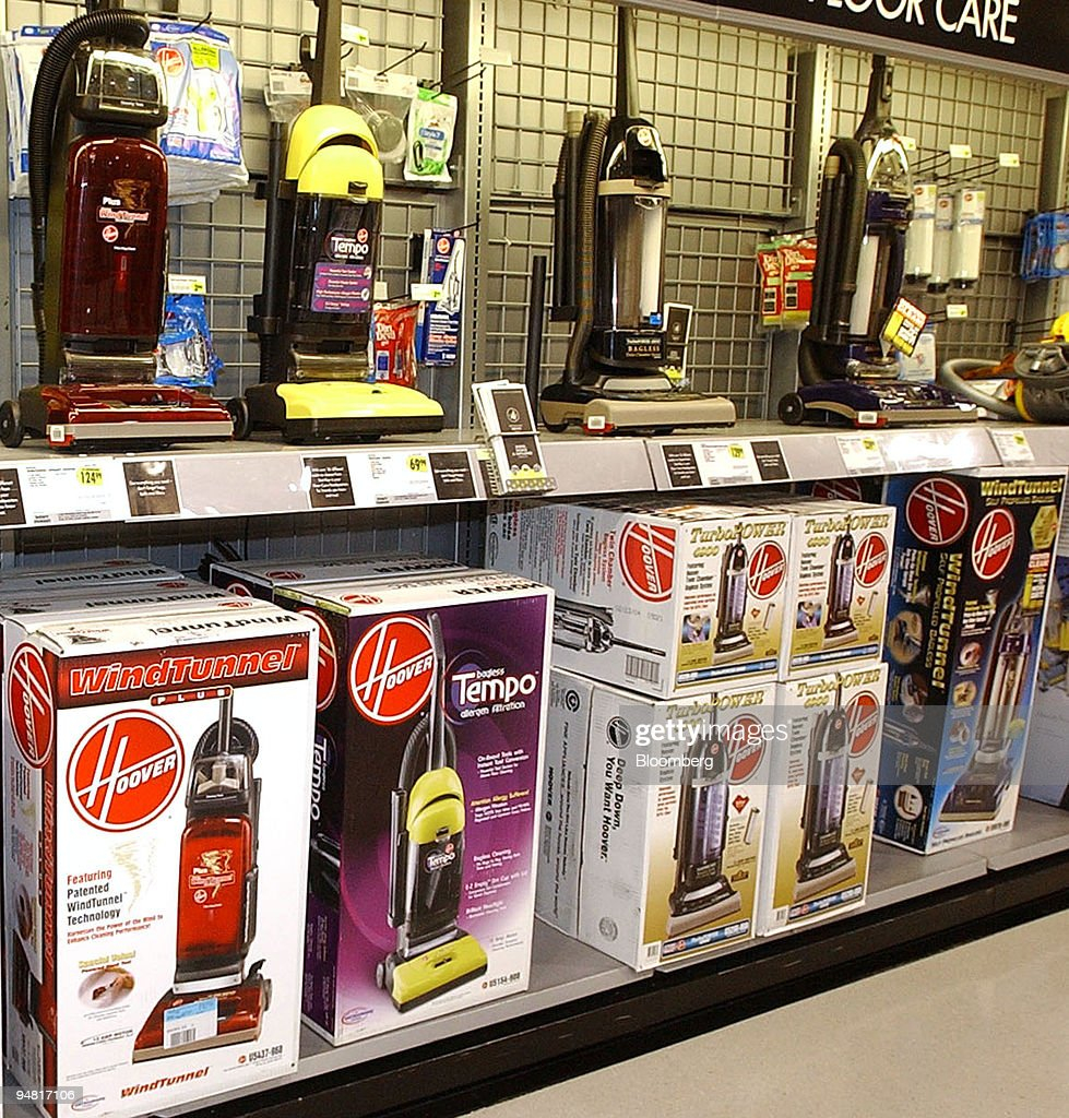 Hoover vacuum cleaners are for sale at a Best Buy in Falls