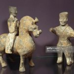 Horse And Rider With Groom Painted Terracotta Statues China News Photo Getty Images