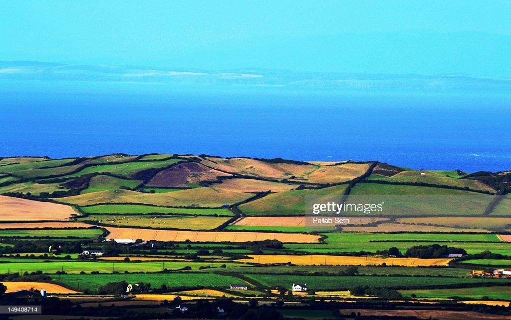 isle of man landscape stock