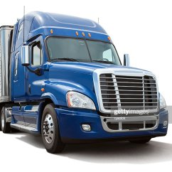 Semi Trailers For Sale In Germany Strain Gauge Wiring Diagram Truck Stock Photos And Pictures Isolated Eighteen Wheel With Blue Cab On White