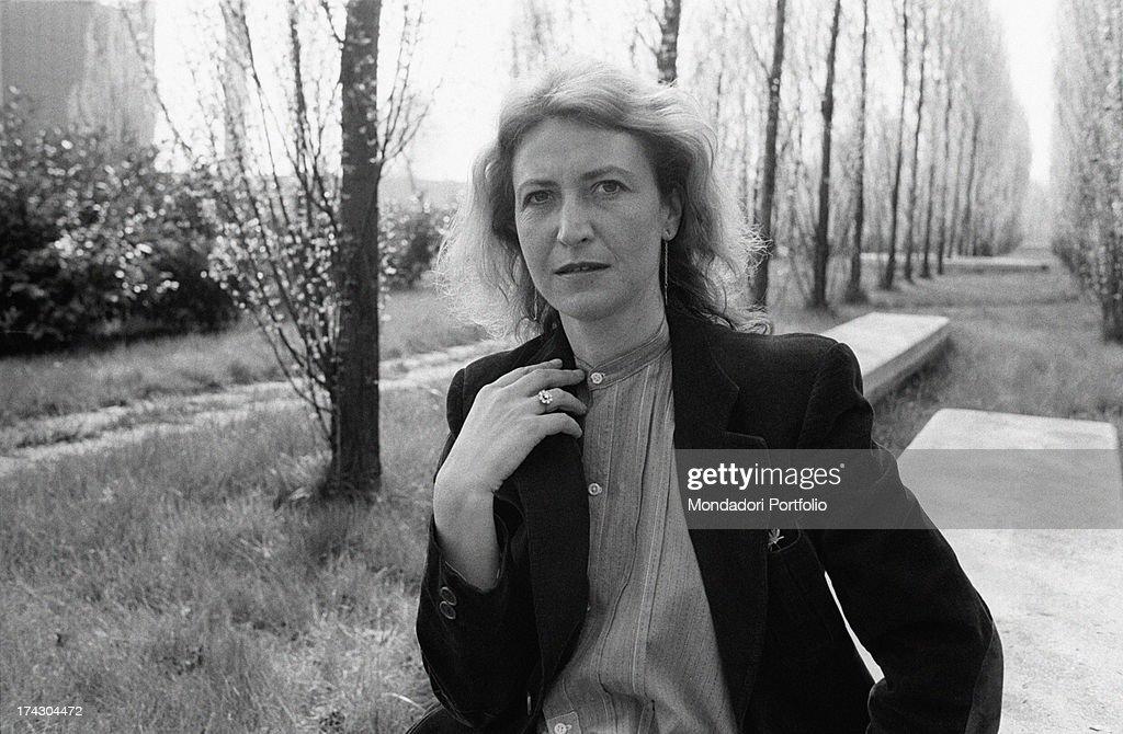 Italian Writer And Journalist Barbara Alberti Sitting In A