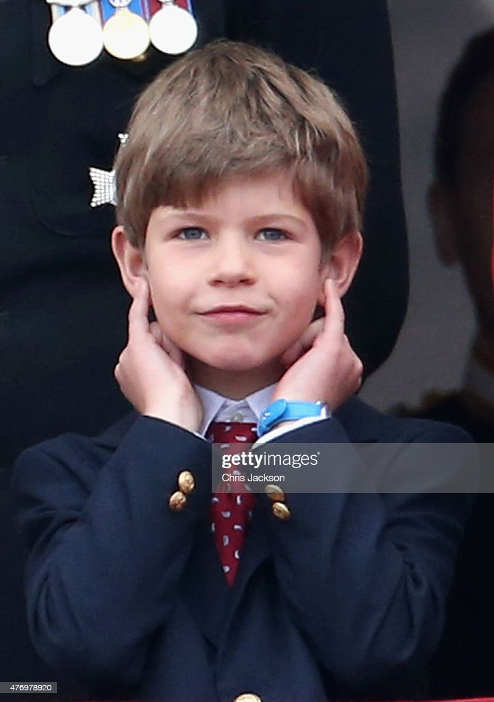 James. Viscount Severn waits for the fly-past on the balcony of... News Photo - Getty Images