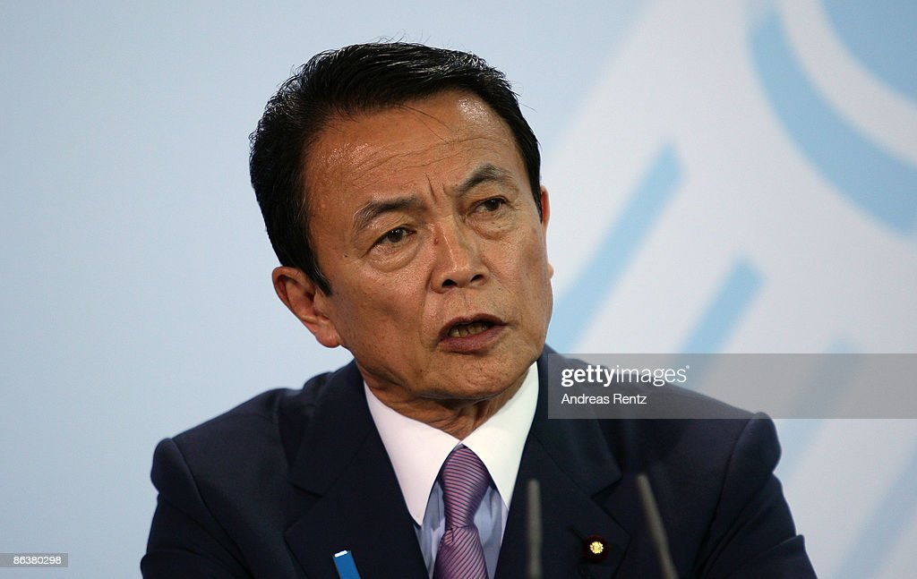 Japanese Prime Minister Taro Aso speaks during a news conference at... News Photo - Getty Images