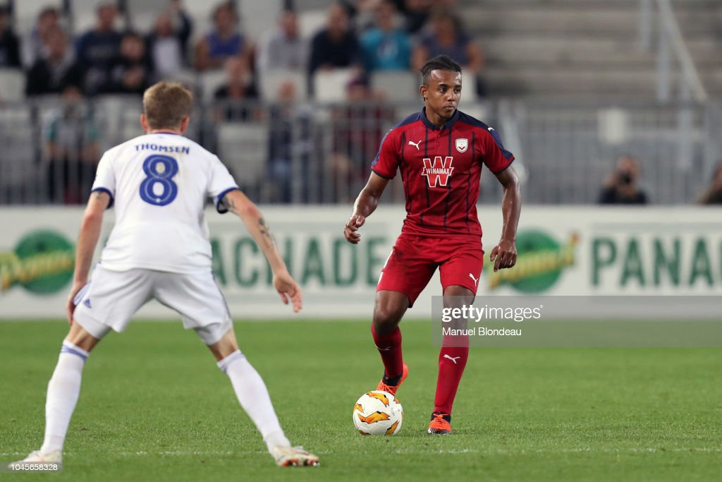 Jules koundé of chelsea fc looks on during the uefa champions league group e stage match between fc sevilla and chelsea fc at estadio ramon sanchez. Jules Kounde of Bordeaux during the Europa League match ...