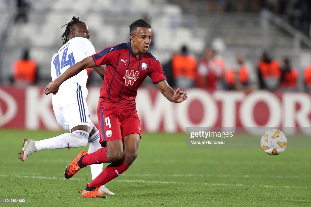 Jules koundé, 22, aus frankreich ⬢ position: Jules Kounde of Bordeaux during the Europa League match ...