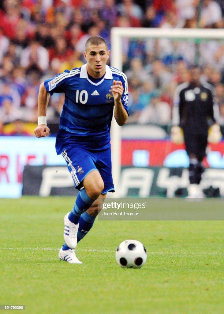 Coupe Du Monde De Football 2010 : coupe, monde, football, Karim, BENZEMA, France, Serbie, Eliminatoires, Coupe, Monde, 2010..., Photo, Getty, Images