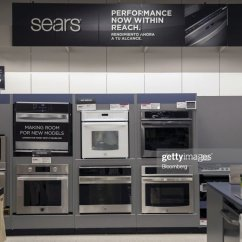 Sears Kitchen Rustic Black Cabinets Appliances Sit On Display For Sale At A Holdings Corp Shoppers Store Friday News Photo