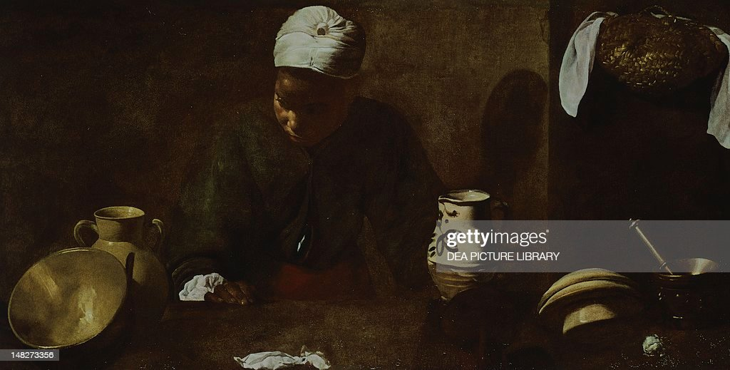 kitchen maid ikea rugs scene or study for with the supper at emmaus 1618 1620