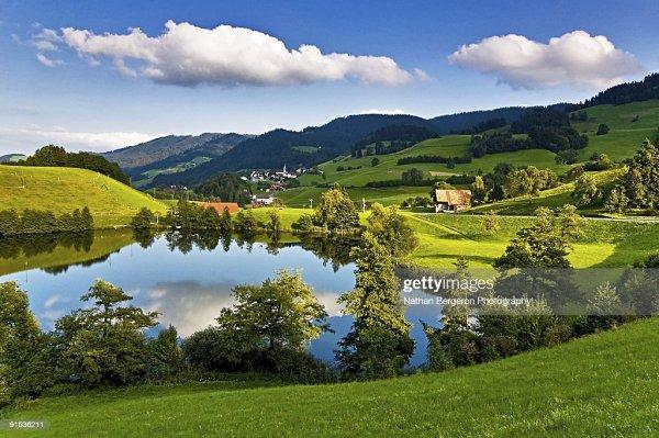 landscape in zurich region of switzerland