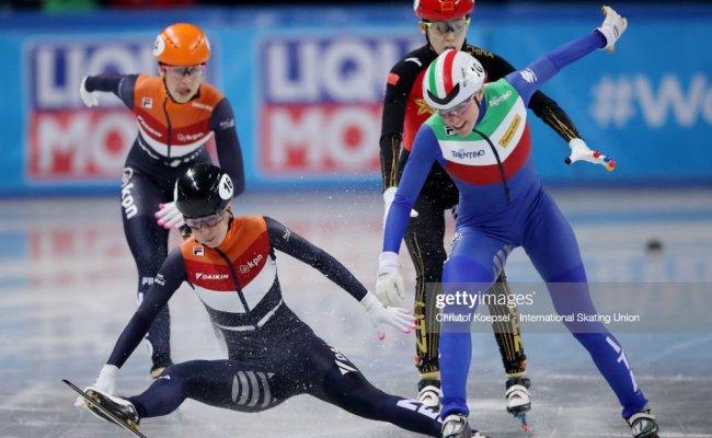 Lara Van Ruijven Of Netherlands Crosses As First The